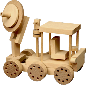Wooden Toy - Satellite Truck